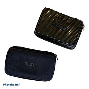 Tumi 2 travel cases makeup toiletries luggage